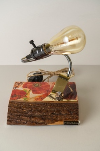 lamp with poppies